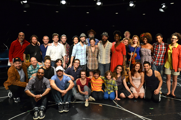 The cast and creative team of Broadway's <i>Soul Doctor</i>.<br />(© David Gordon)