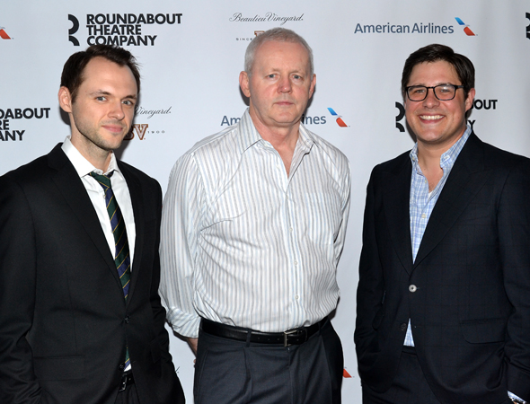 The men of the company: Christopher Denham, David Morse, and Rich Sommer.<br />(© David Gordon)