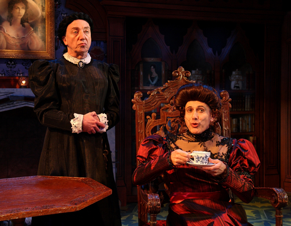Tom Aulino and David Greenspan in <i>The Mystery of Irma Vep</i> at the Bay Street Theatre.