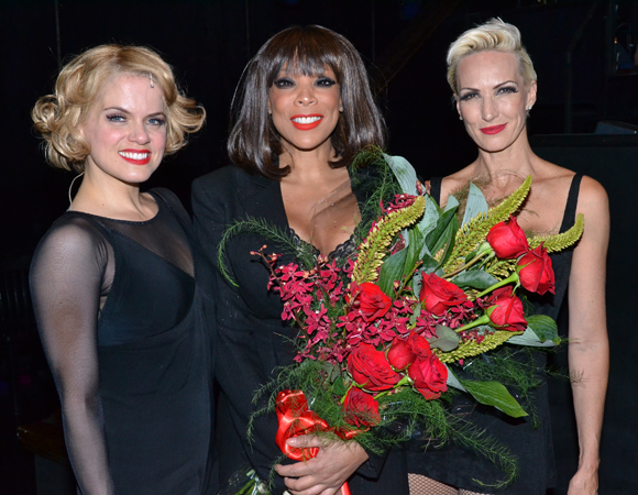 Amy Spanger, Wendy Williams, and Amra-Faye Wright backstage at <i>Chicago</i> on Williams' official opening night.