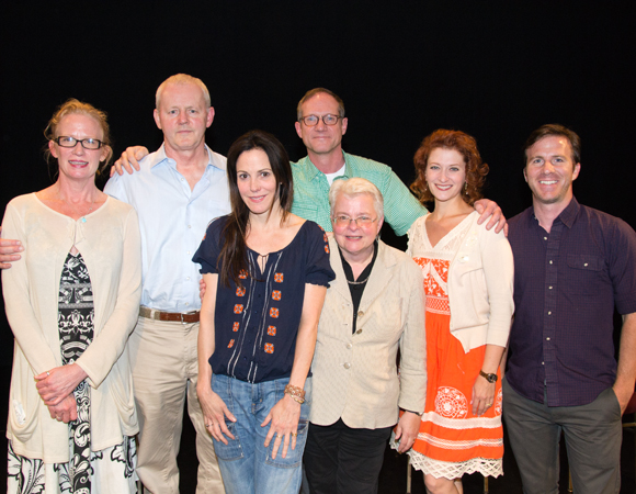 Johanna Day, David Morse, Mary-Louise Parker, director Mark Brokaw, playwright Paula Vogel, Kerry O'Malley, all of the original company of <i>How I Learned to Drive</i>, as well as Justin Hagan reunited at the Vineyard Theatre's benefit reading of the play.