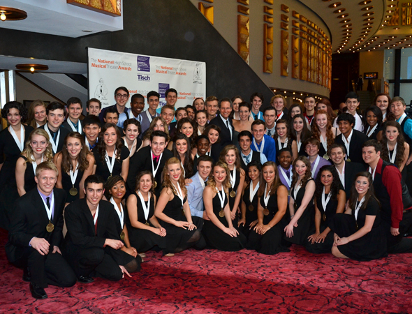The Jimmy Awards contestants pose for a group photo.<br />(© David Gordon)