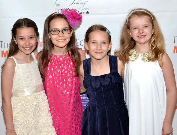Broadway's four Matildas can't wait to spend an evening at the theater.<br />(© David Gordon)