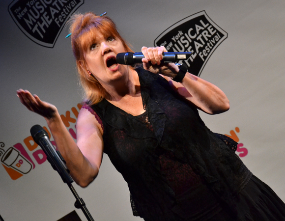 "Annie Golden performs ""Too Busy Running"" from <i>Marry Harry</i>.<br />(© David Gordon)"