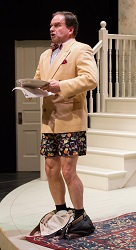 David Ingram in <i>Noises Off</i> at People's Light & Theatre Company