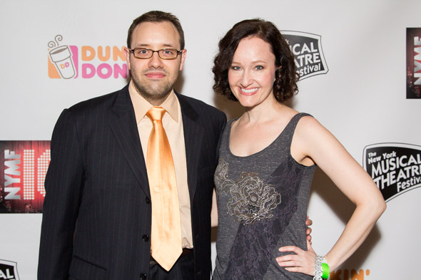 Melissa van Der Schyff and Nicholas Stimler are excited about the New York Musical Theatre Festival.<br />(© Seth Walters)