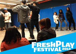 Promotional art for the <i>FreshPlay Festival</i>.