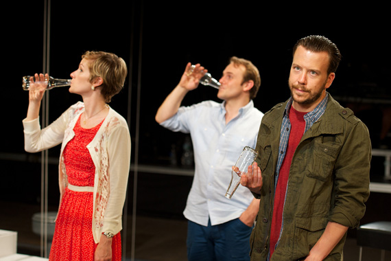 Suzy Jane Hunt, Richard Thieriot, and Eric T. Miller in <I>rogerandtom</I>.