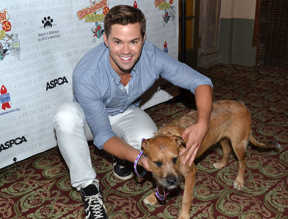 Will Andrew Rannells take this shaggy dog home?<br />(© David Gordon)