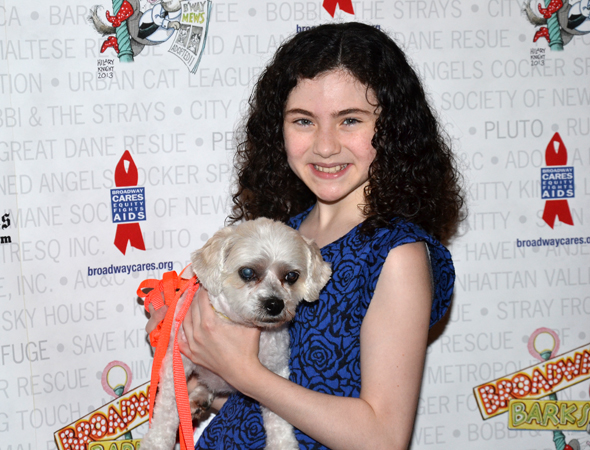 Lilla Crawford wants to add this little guy to the orphanage at Broadway's <i>Annie</i>.<br />(© David Gordon)