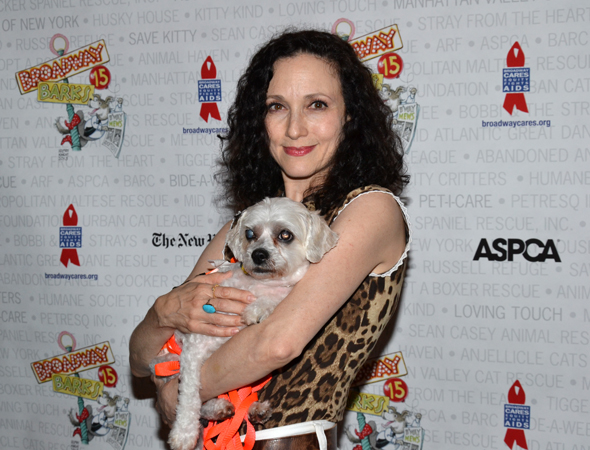 Bebe Neuwirth meets a new pal.<br />(© David Gordon)