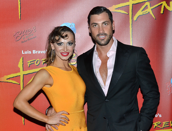 <i>Dancing with the Stars</i> favorites Karina Smirnoff and Maksim Chmerkovskiy return to Broadway and take center stage.<br />(© David Gordon)
