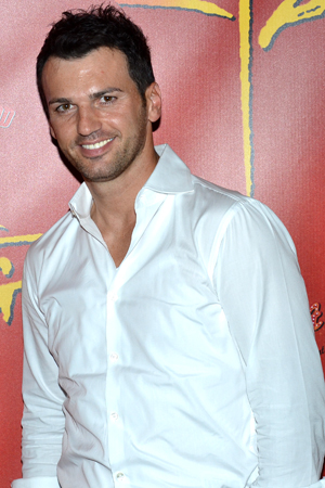 <i>Dancing with the Stars</i> dancer Tony Dovolani is thrilled to cheer on his colleagues, Karina and Maksim.<br />(© David Gordon)