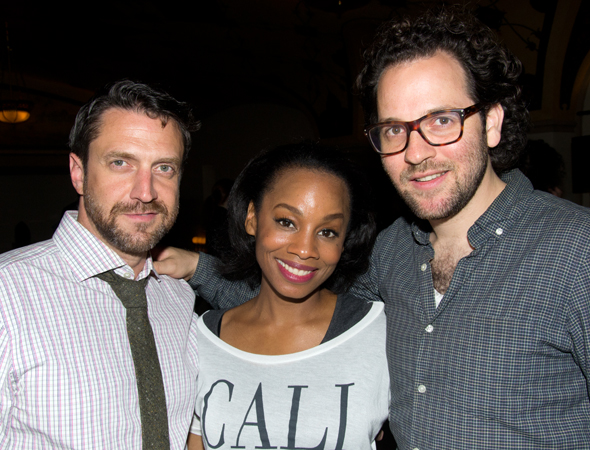 Raúl Esparza and Anika Noni Rose share a photo with their director, Sam Gold.<br />(© David Gordon)