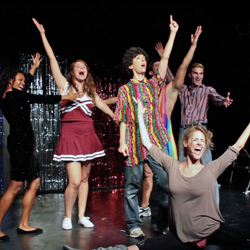The cast of <i>Bayside! The Musical!</i> at Kraine Theater.