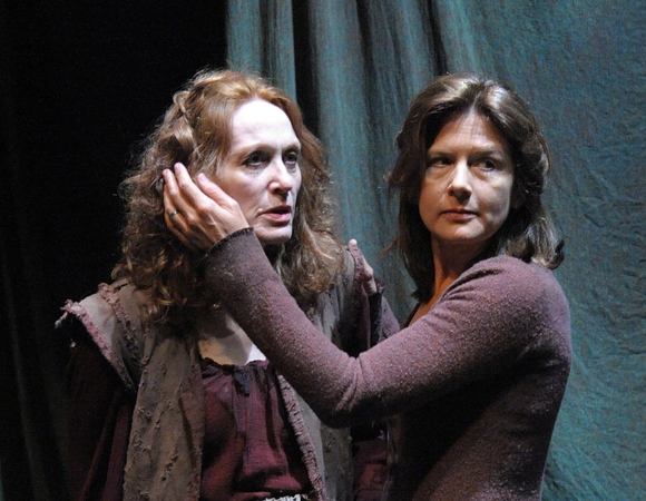 Jan Maxwell and Jennifer Van Dyck in Howard Barker's <i>The Castle</i> at the Potomac Theatre Project.