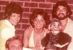 Mimi Hines with Madame and friends backstage at <I>The Paul Lynde Show</I>.