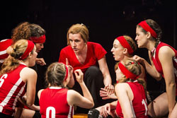 Susan Blackwell (center) and the cast of <i>Volleygirls</i>
