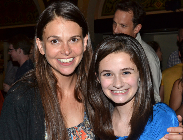Sutton Foster joins Emerson Steele, who made her New York stage debut as Young Violet.<br />(© David Gordon)