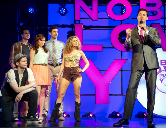 Heath Calvert (right) and the cast of <i>Nobody Loves You</i>