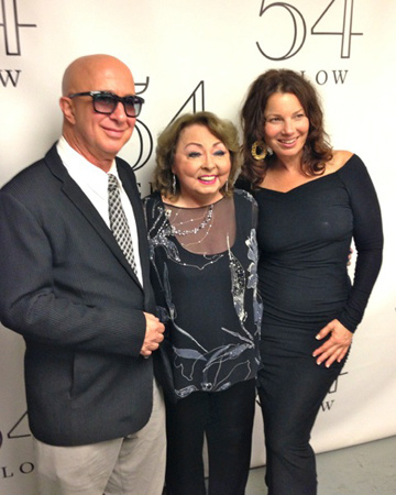 Mimi Hines (center) celebrates her 80th birthday at 54 Below with Paul Shaffer and Fran Drescher.<br />(courtesy of 54 Below)