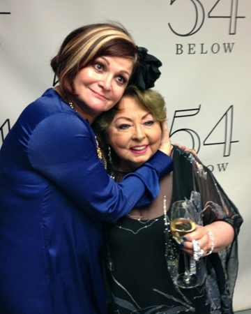Faith Prince and Mimi Hines at 54 Below.<br />(courtesy of 54 Below)