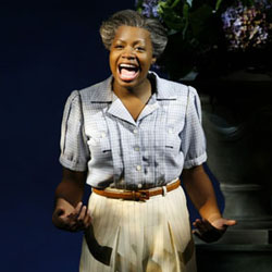 Fantasia Barrino in the Broadway cast of <i>The Color Purple</i>.