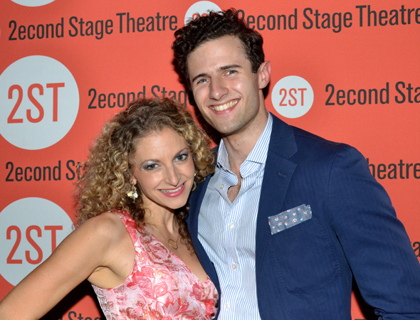 Lauren Molina shares a photo with her onstage love interest, Roe Hartrampf.<br />(© David Gordon)