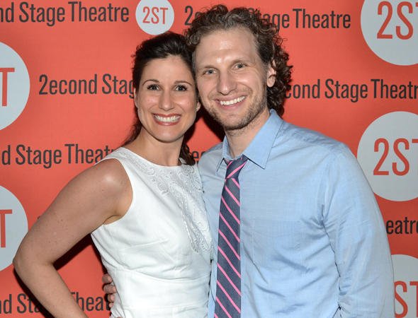 <i>Little Miss Sunshine</i> star Stephanie J. Block smiles alongside her hubby, <i>House of Cards</i> star Sebastian Arcelus.<br />(© David Gordon)