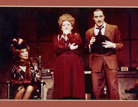 Richard Sabellico (right) as Rooster in the original Broadway production of <i>Annie</i>.