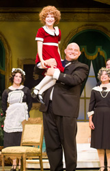 Todd Fenstermaker and Raquel Leifer in Theatre by the Sea's current production of <i>Annie</i>.