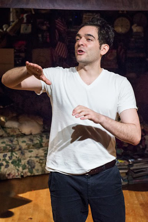 See Matthew-Lee Erlbach in <i>Handbook for an American Revolutionary</i> at The Gym at Judson.<br />(© Russ Rowland)