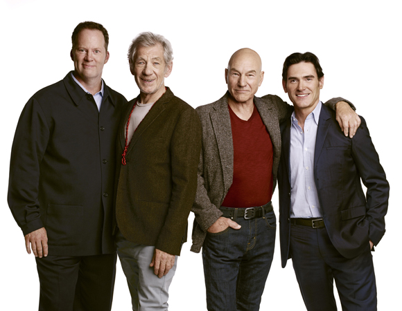 Shuler Hensley, Ian McKellen, Patrick Stewart, and Billy Crudup