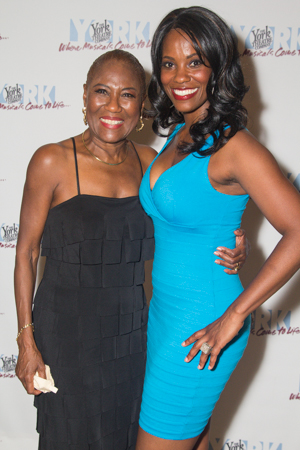 Ernestine Jackson and Zakiya Young celebrate their opening night.<br />(© Seth Walters)