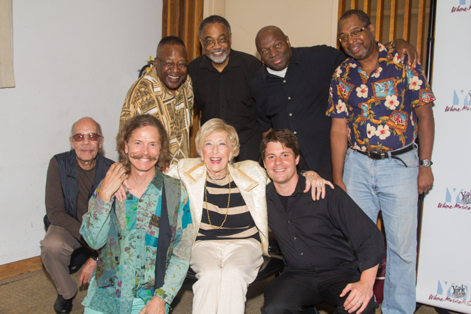 Composer/lyricist Mildred Kayden with the band.<br />(© Seth Walters)