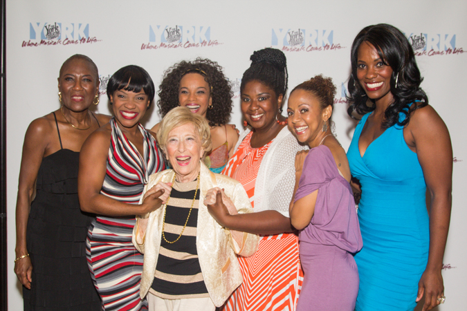 <i>Storyville</i> cast members with composer/lyricist Mildred Kayden.<br />(© Seth Walters)
