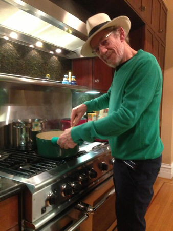 "July 20: ""Sir Ian McKellen prepared for us a fortifying risotto in preparation for Comic Con.""—Sir Patrick Stewart<br />(via @SirPatStew)"