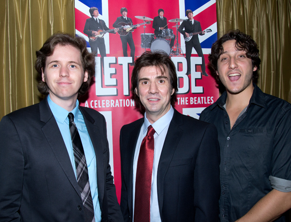 Additional cast members of <i>Let It Be</i> are excited to be on Broadway!<br />(© David Gordon)