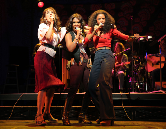 Christina Sajous, Jennifer Sanchez, and Reneé Elise Goldsberry in <i>I'm Getting My Act Together and Taking It on the Road</i>.