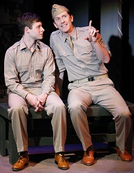 Bobby Steggert and Jeffry Denman in the off-Broadway premiere of <i>Yank!</i> at the York Theatre Company