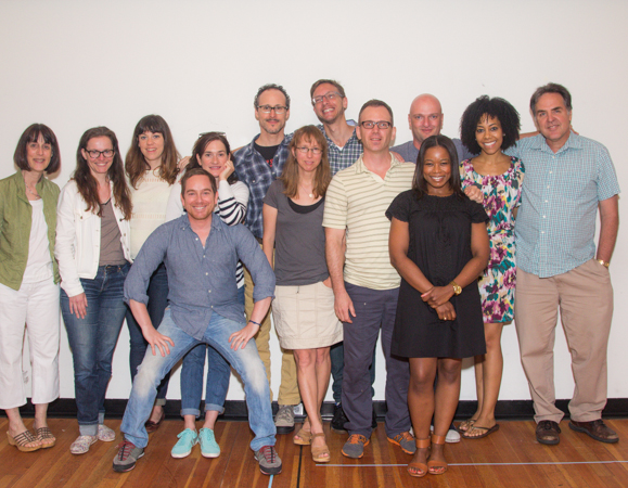 The cast and creative team of <i>Mr. Burns, A Post-Electric Play</i>.<br />(© Seth Walters)