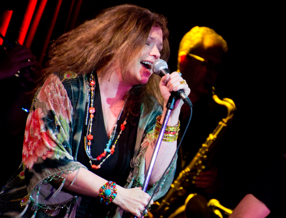 Mary Bridget Davies performing a number from <i>A Night With Janis Joplin</i> at B.B. King Blues Club & Grill.