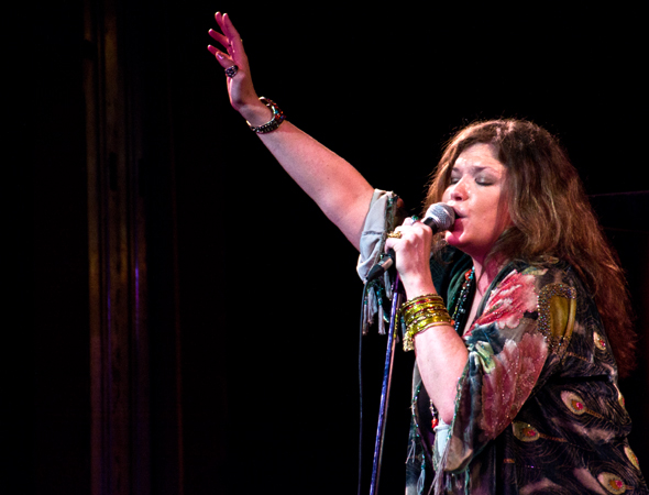 Davies received the 2013 Cleveland Critics Circle Award for Best Actress in a Musical for her performance as Janis Joplin.<br />(© David Gordon)