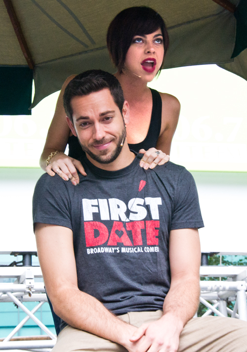 Zachary Levi and Krysta Rodriguez star in the new Broadway musical <i>First Date</i>.