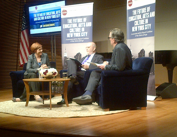Mayoral candidate Christine Quinn fields questions from WNYC hosts