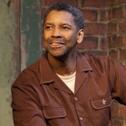 Denzel Washington in the 2010 Broadway revival of <i>Fences</i>.