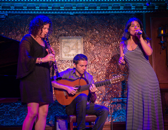 Anat Cohen, Cesar Garabini, and Maucha Adnet bring Brazilian flavor to 54 Below.<br />(© Seth Walters)