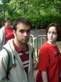 Max Reuben and Mara Wilson back in their college days.