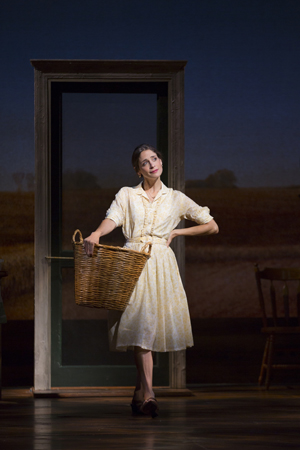 Elena Shaddow stars as Italian immigrant Francesca Johnson.<br />(© T Charles Erickson)