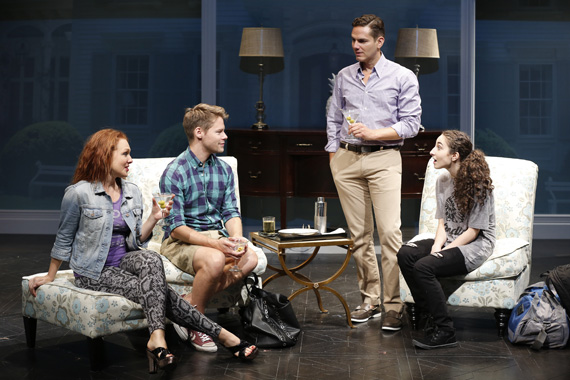 Erin Cummings, Randy Harrison, Paul Anthony Stewart, and Alexis Molnar in <I>Harbor</I>.